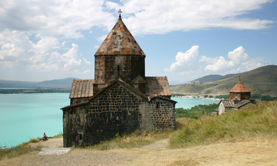 Armenia: Medieval Church on Sevan Lake