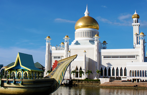 Brunei: Omar Masjid Mosque in Bandar Seri Begawan