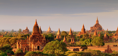 Myanmar (Burma): Bagan Temples at Sunrise